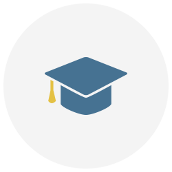 formación académica icono
